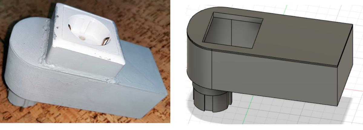 корпус в реальности и корпус в fusion360