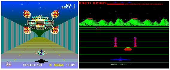 Buck Rogers: Planet of Zoom (Sega Z80-3D System) и его ремейк (БК 0010-01)