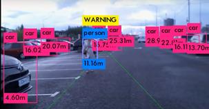 Визуальная навигация при помощи нейросетей, позволяющая автономному автомобилю точно определить расстояние до окружающих предметов