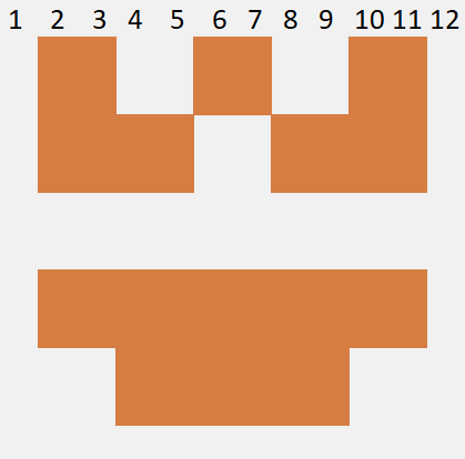 How many squares are there in the avatar
