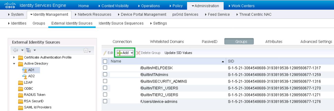 Рисунок 18 а). Подтягивание групп пользователей из Active Directory