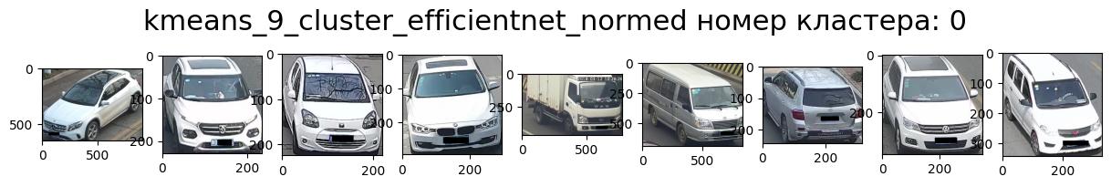 Кластер 0 светлые машины, передом, ракурс направо, внедорожник (вэн) много выбросов.