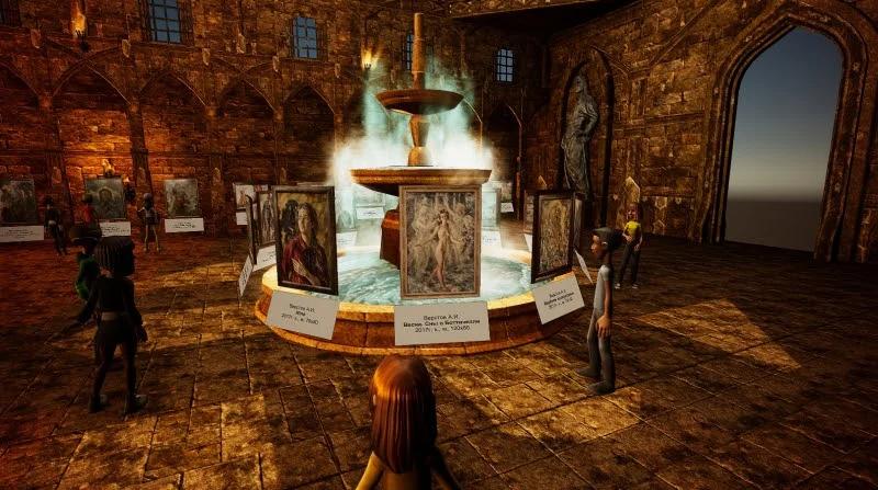 Виртуальная выставка картин художника Александра Верстова в старинном замке VR-игры