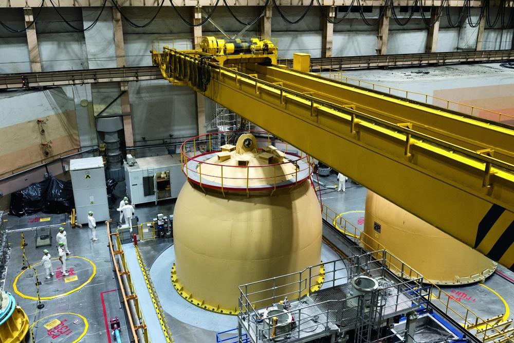 Реакторный зал первой очереди Кольской АЭС