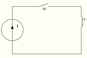 рис 15. Подключение индуктивности к генератору тока.
