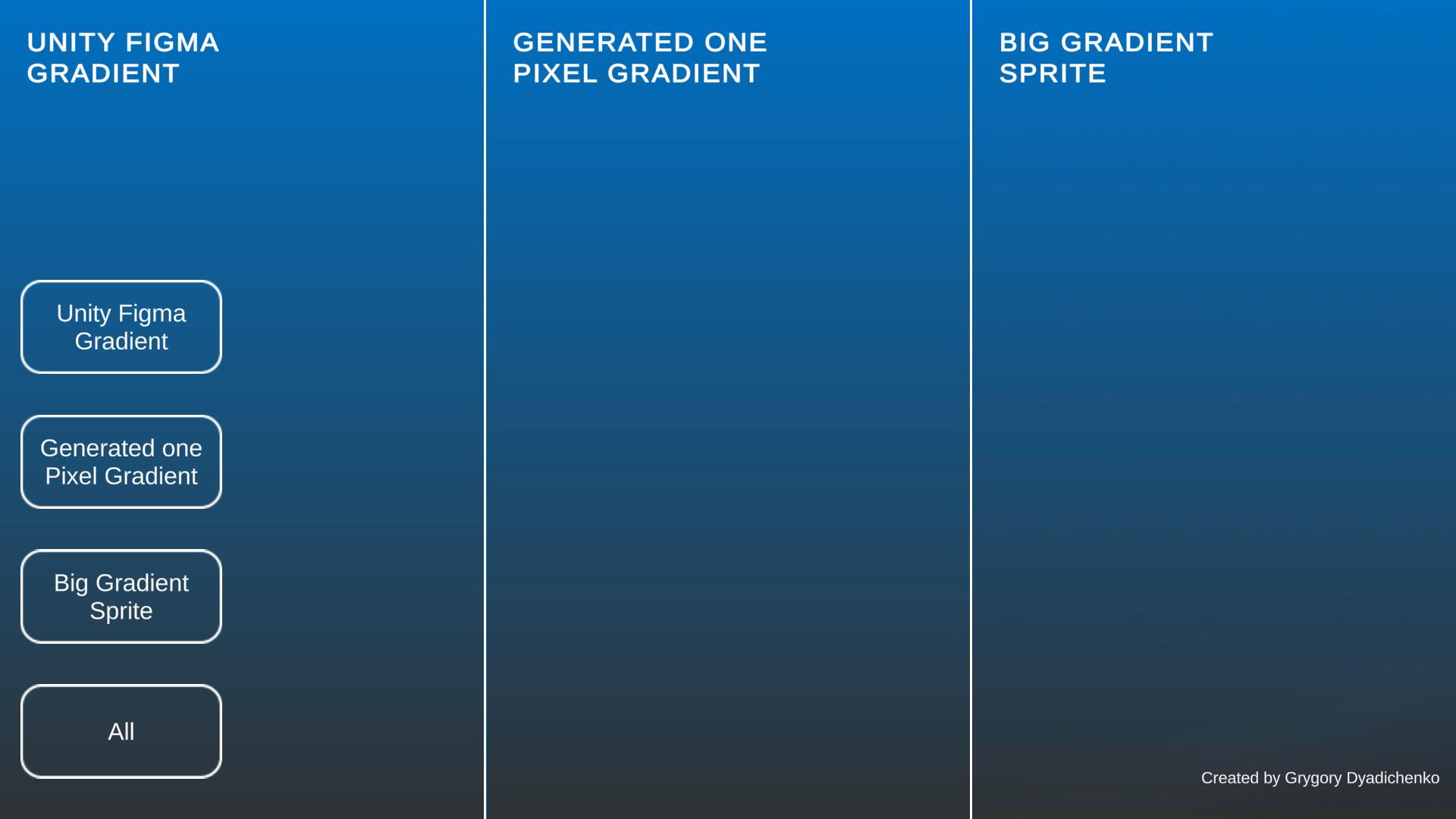 unity figma gradient - градиент сделанный шейдером, остальные текстурами