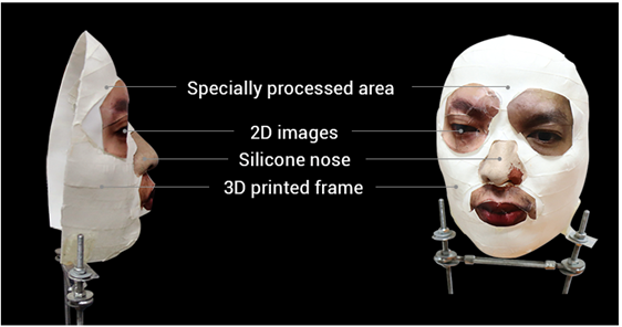 Для обмана используют напечатанную на 3D-принтере основу, которую оклеивают фотографиями