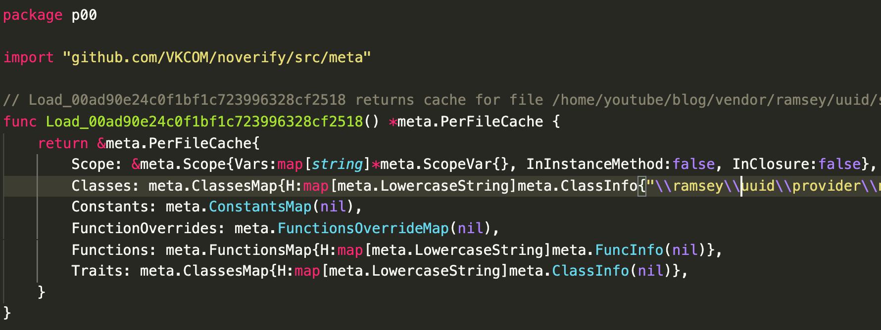 пример сгенерированного кода