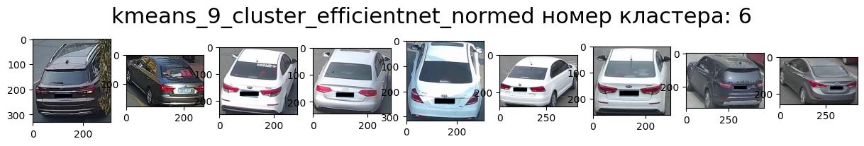 Кластер 6 белые машины, задом, ракурс вправо, седан много выбросов.