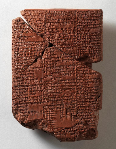 Табличка с текстом мифа об Энки и Нинхурсаг, обнаруженная при раскопках в Ниппуре (http://personeltest.ru/aways/www.penn.museum/collections/object/347491)