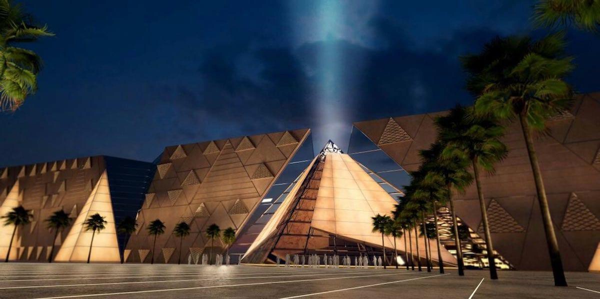 Большой Египетский музей, архитектура которого вдохновлена треугольником Серпинского
