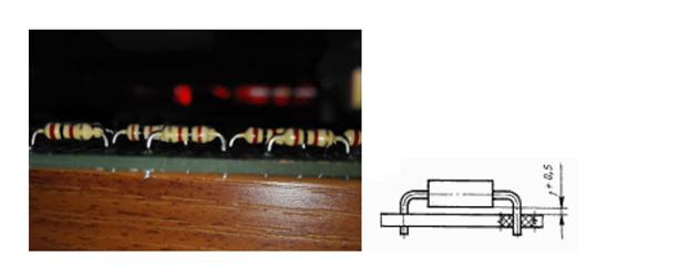 Рисунок 7. Резисторы на высоте 1,0 мм.