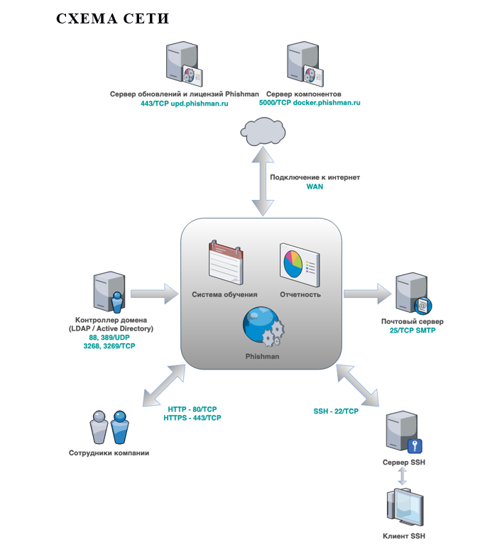 Типовая схема сети