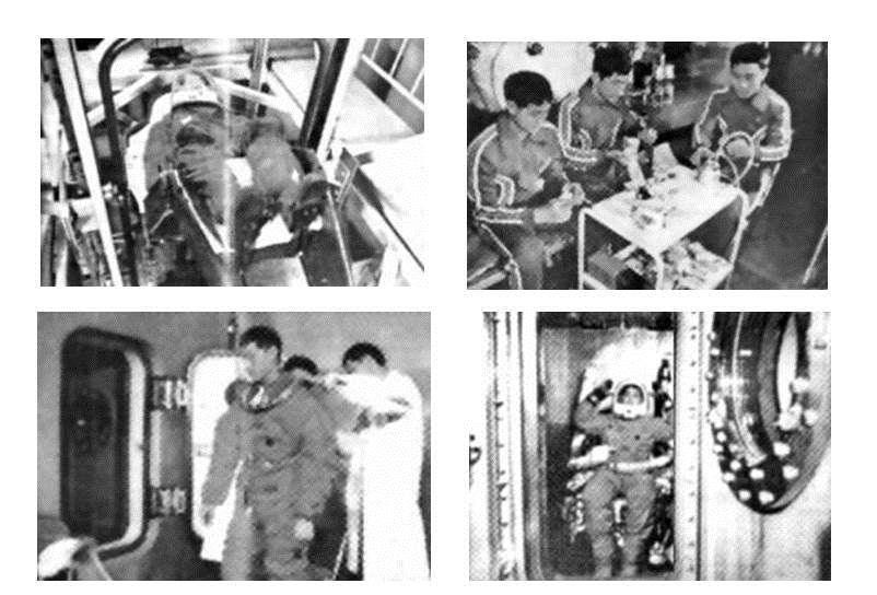 Снимки подготовки тайконавтов, опубликованные в 1980 году