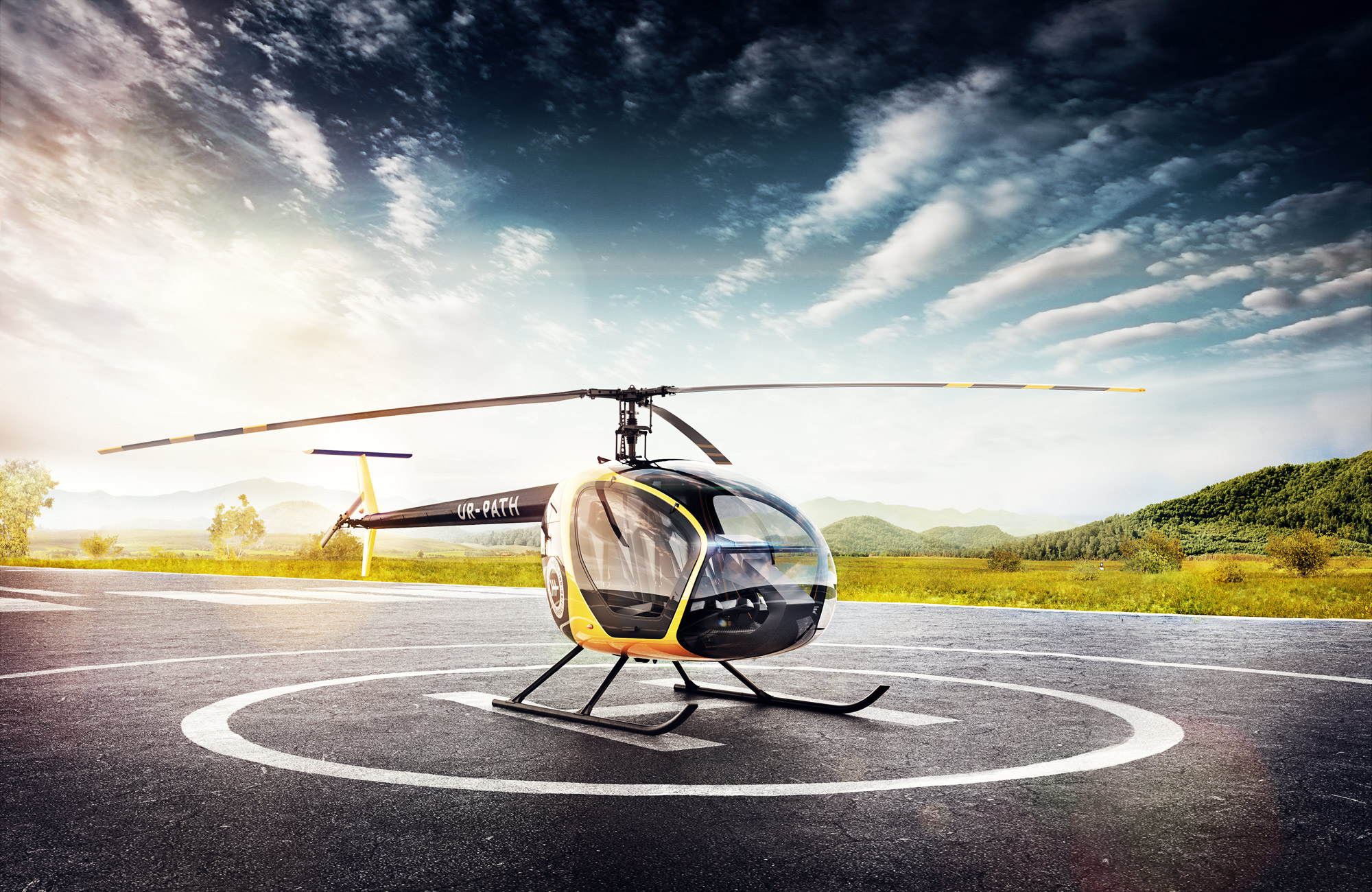 In 2015, the Studio designed the Scout helicopter. Then it was done by a big team.
