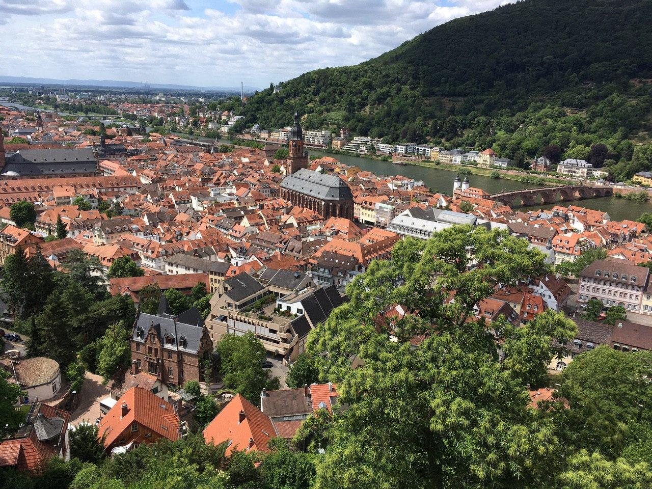 Heidelberg - здесь осталась средневековая