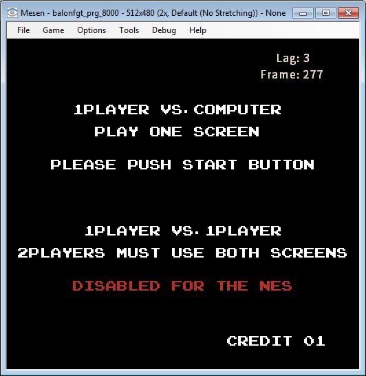 Lobby экран NES порт