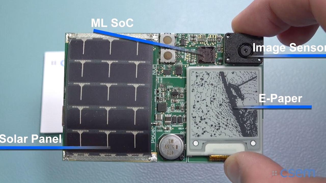 Микросхема на солнечной батарее. Источник: csem.ch