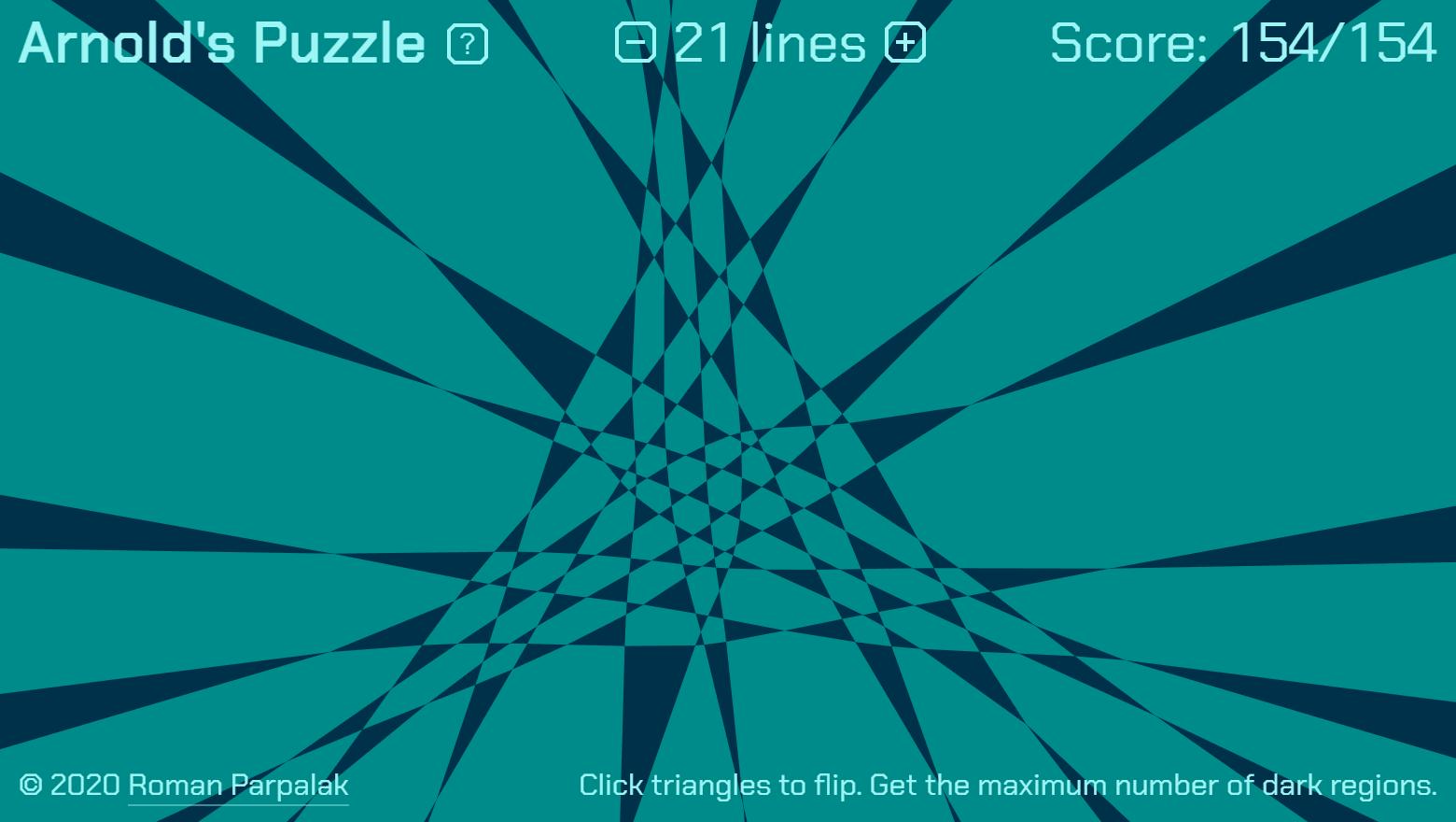 Головоломка Арнольда от комбинаторной геометрии к браузерной игрушке
