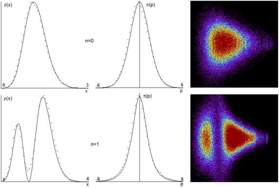 Стохастическое уравнение Ланжевена воспроизводит плотности вероятности для осциллятора Морзе