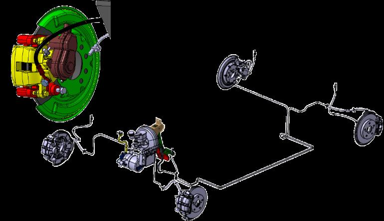 Цифровой макет тормозной системы