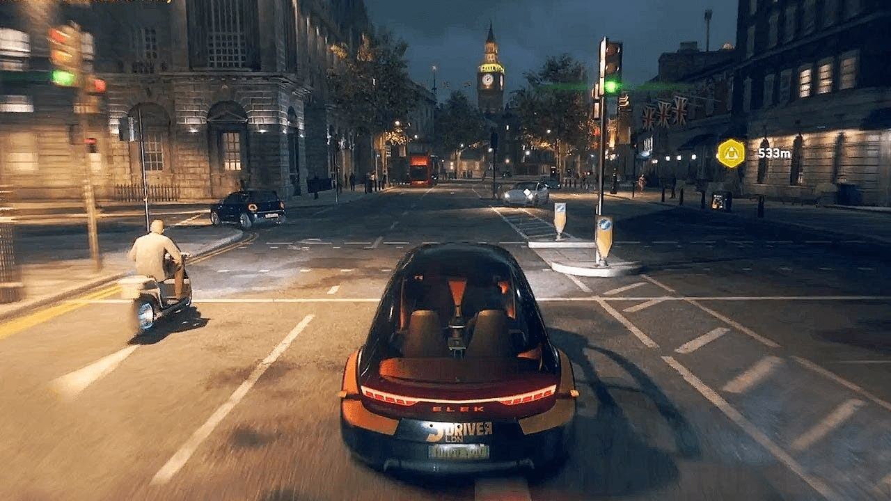 All roads in Watch Dogs Legion are looped so that the player can move forward