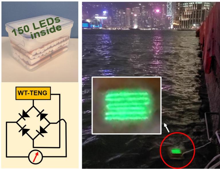 пример работы 150 светодиодов от WT-TENG