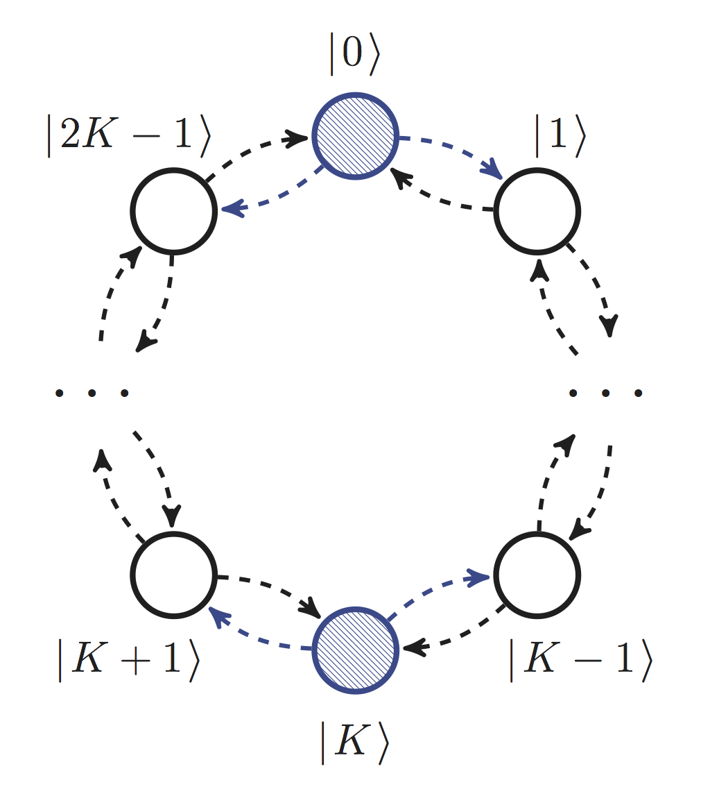 Кольцо квантовых блужданий