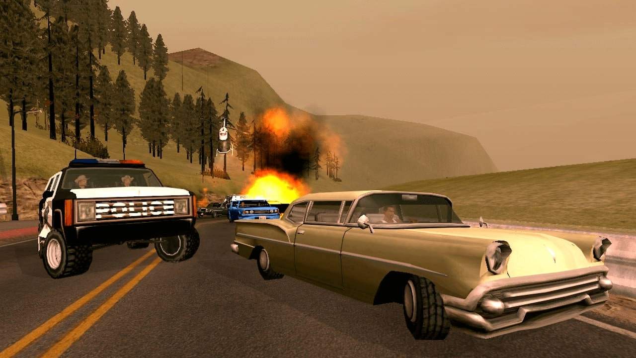 Chasing in Grand Theft Auto: San Andreas is one of the most interesting activities, as any actions of the player provoke the world to respond to him