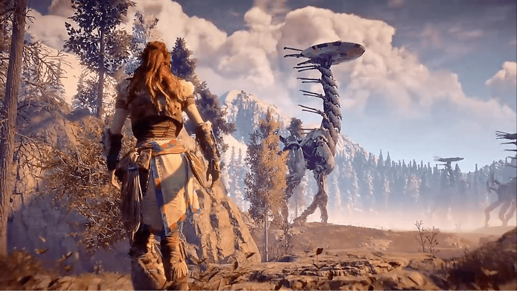 In Horizon Zero Dawn, the environment tells about events that occurred hundreds of years before the main plot