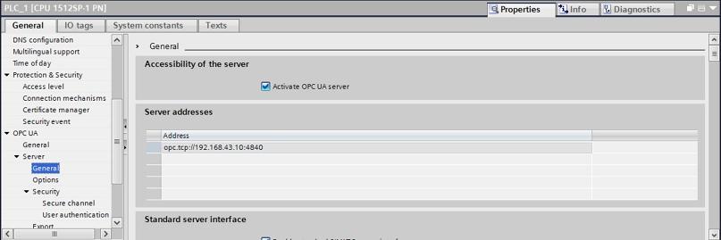 Клиент-серверный обмен данными между двумя PLC серии S7-1500 по протоколу OPC UA