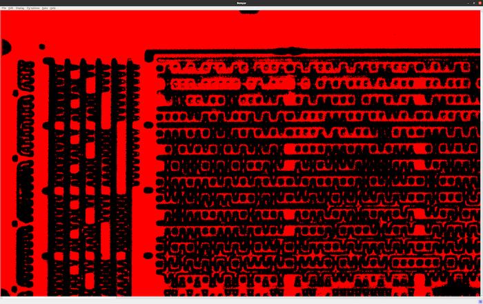 Экран Rompar в инфракрасном спектре.