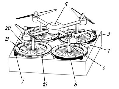 Ирисовые диафрагмы как устройство позиционирования в посадочной платформе БПЛА