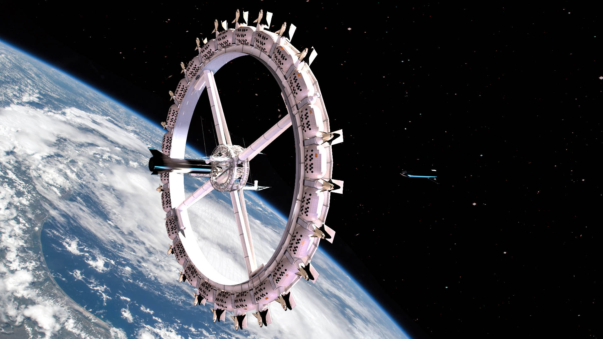 Визуализация орбитальной станции Voyager. Источник: Orbital Assembly Corporation