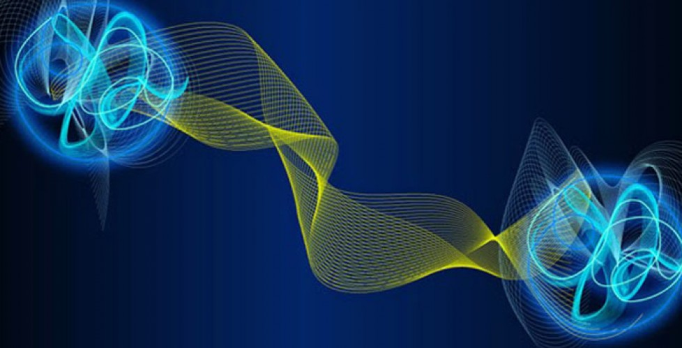 Квантово-запутанные частицы, художественное представление.