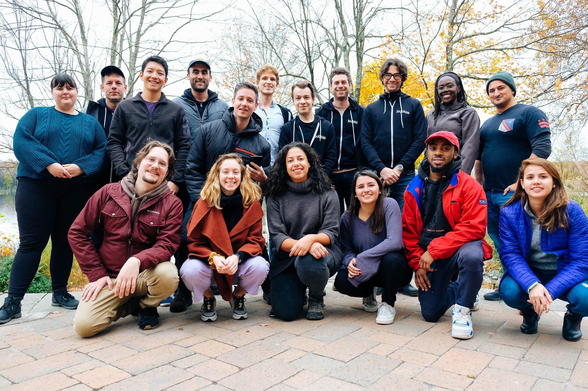 Команда bubble.io в 2019 году