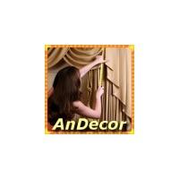 Логотип компании «Андекор - жалюзи и шторы»