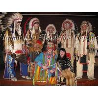 Логотип компании «Индейское шоу Чанте Ша индейцы и ковбои»