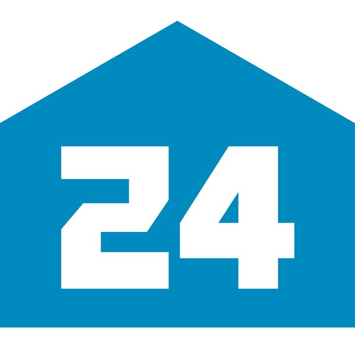 Логотип компании «Квартплата 24»