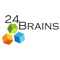 Логотип компании «24 Brains»