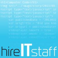 Логотип компании «HireITstaff»