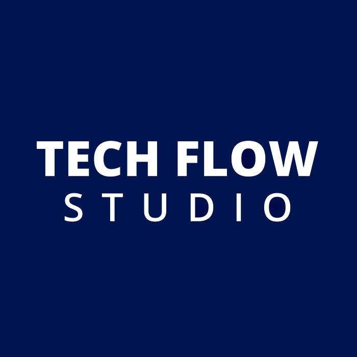 Логотип компании «TechFlow.Studio»