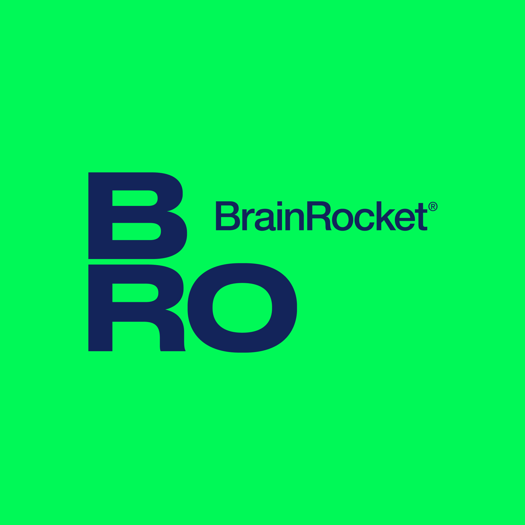 Логотип компании «Brain Rocket»