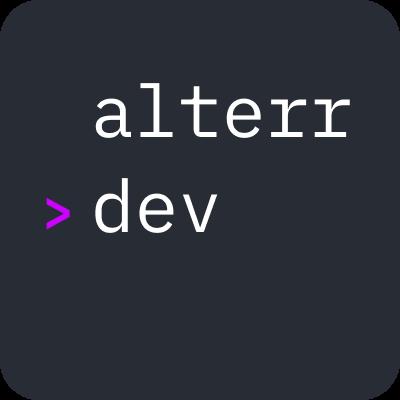Логотип компании «alterr.dev»