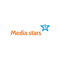 Логотип компании «Media stars»