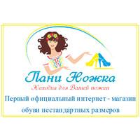 """Логотип компании «Интернет магазин женской и мужской обуви нестандартных размеров """"Пани ножка!""""»"""