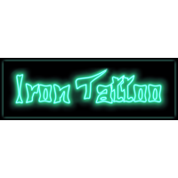 Логотип компании «Салон аэрографии Iron Tattoo»