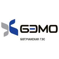 Логотип компании «Организатор строительства Богучанской ГЭС»