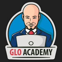 Логотип учреждения доп. образования «Glo Academy»