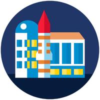 Логотип высшего учебного заведения «Сибирский государственный университет науки и технологий имени М.Ф. Решетнева»
